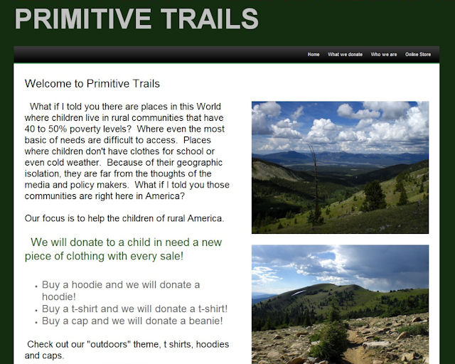 We Support Primitive Trails here at The Claiborne House