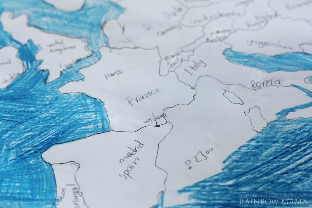mapping the world with art and montessori links