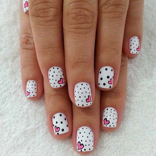 heart nail art design