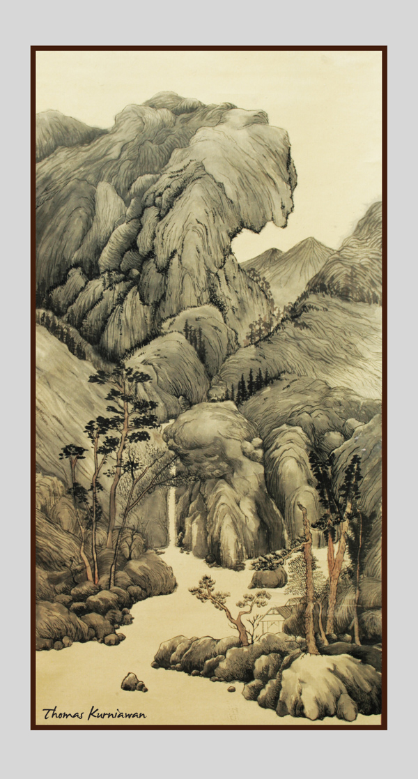 thomas kurniawan u0026 39 s portfolio  chinese painting   mountains
