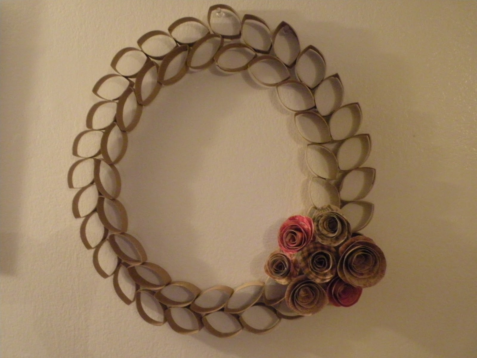 toilet paper tube wreath