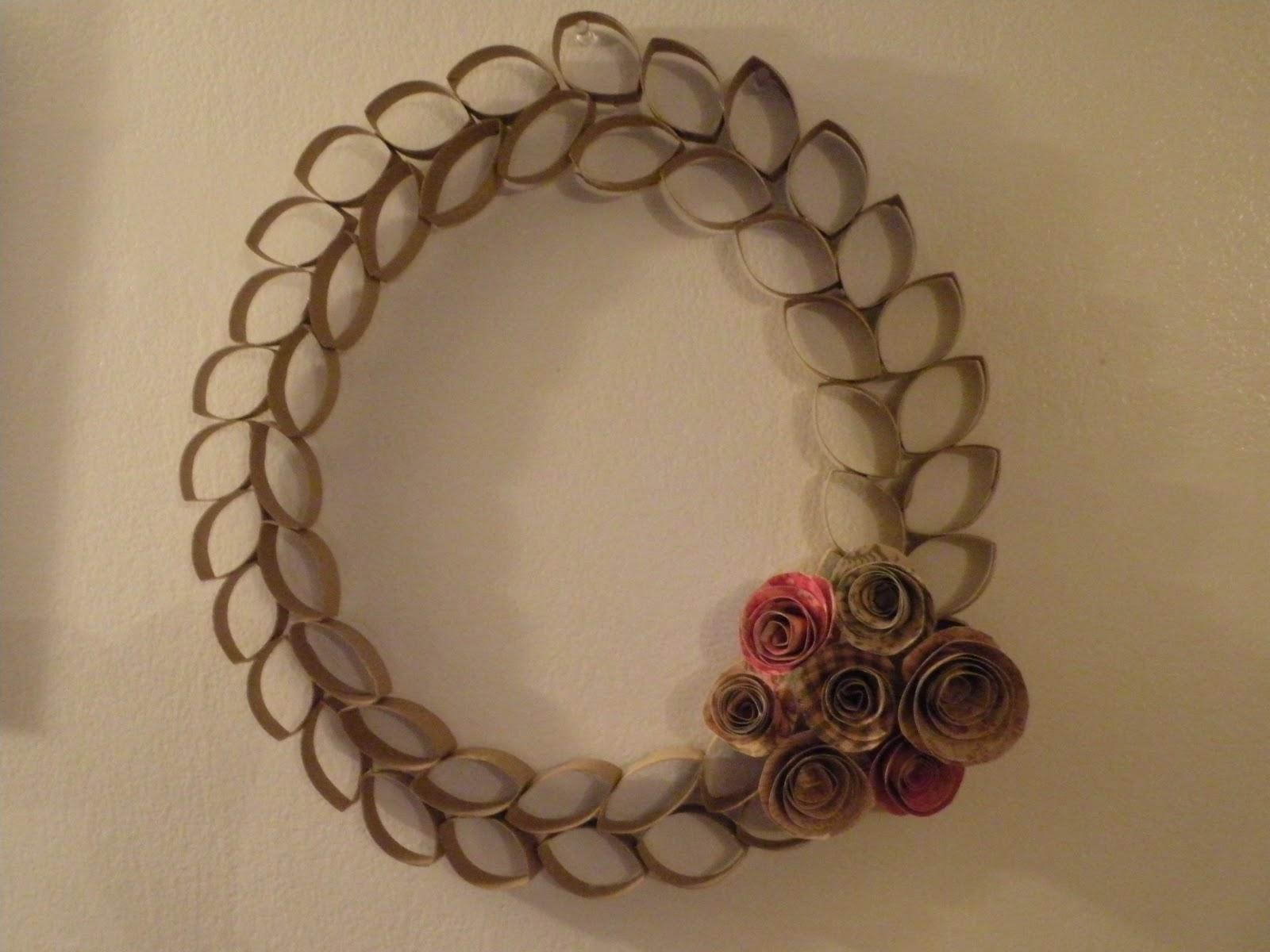 Toilet paper tube wreath jeuxipadfo Images