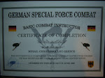 Instructor German Special Force course G.S.G.C