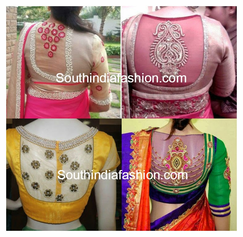 Net Back Blouse Designs South India Fashion