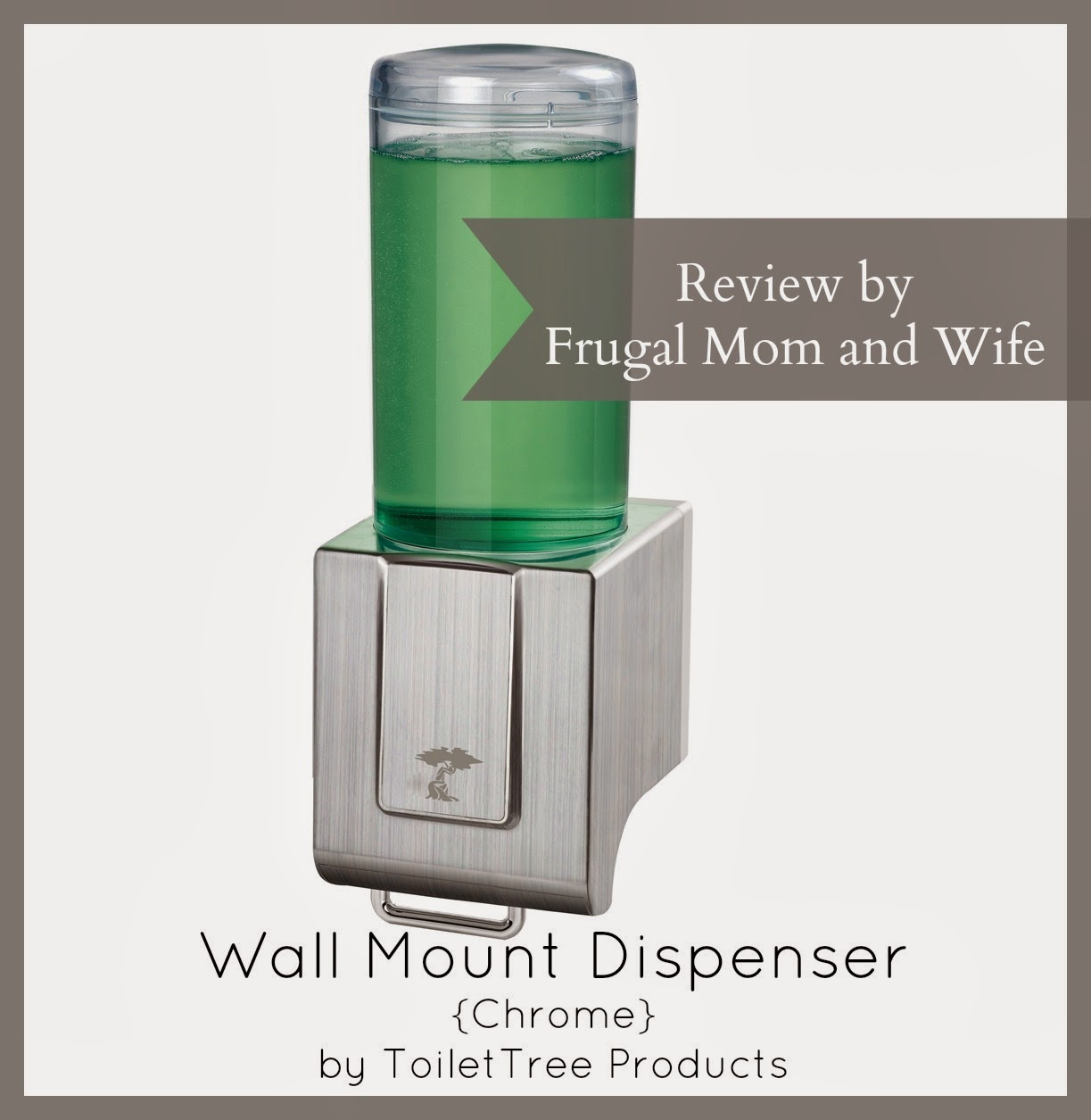 Frugal mom and wife wall mount dispenser chrome by toilettree products review - Wall mounted shampoo and conditioner dispenser ...