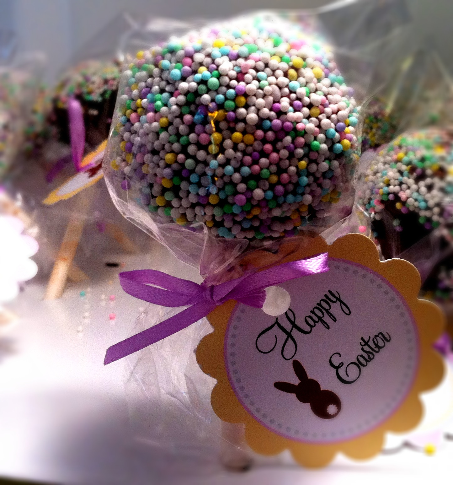 Happy Easter, Gluten Free, Casein Free, Vegan Cake Pops - Two Prince ...
