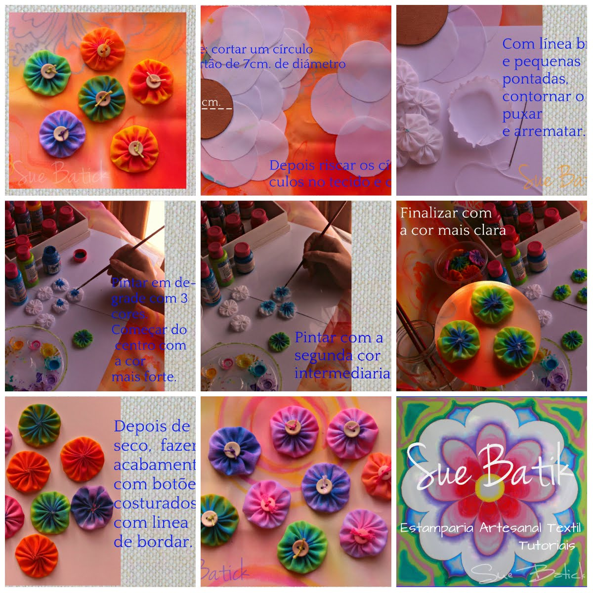 Veja também ➽ Fuxico de seda pintado