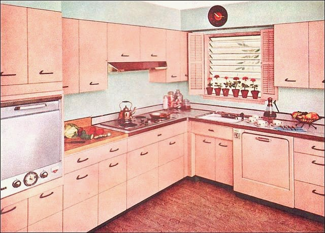 Farm Girl Pink ~ Vintage Pink kitchens cabinets