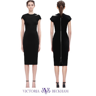 Victoria Beckham Embroidered crepe dress