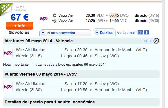 Wizz Air Valencia Lviv