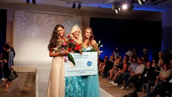 Miss Slovenia Slovenije 2013 Nina Durdevic, Sara Savnik and Natasa Maneva