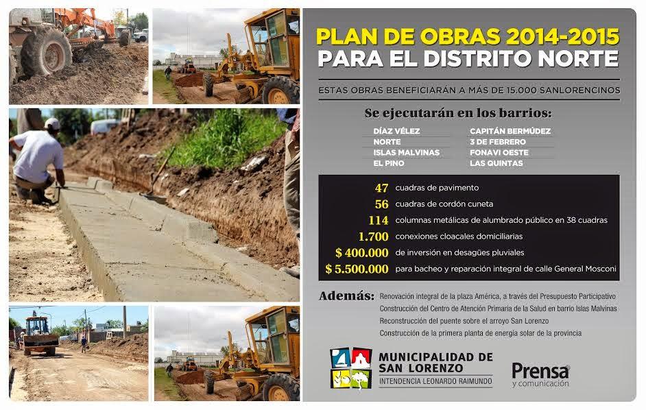 Plan de obras para el Distrito Norte - Aviso gráfico vigente