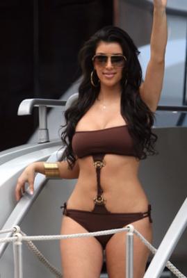Kim K in bikini swimwear