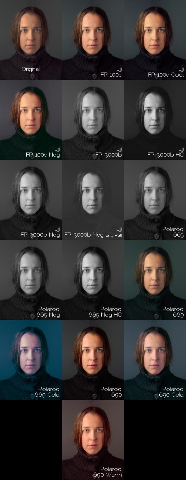 Free Film Emulation Preset Instant Stock GIMP