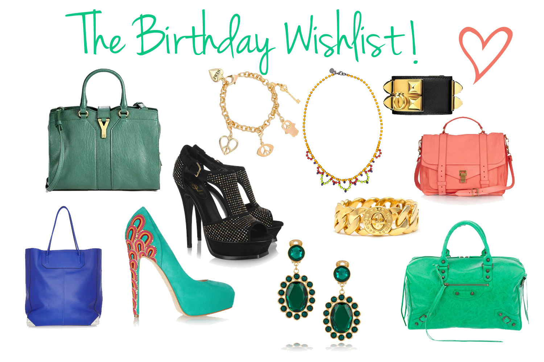 Birthday Wish List Template The birthday wishlist!