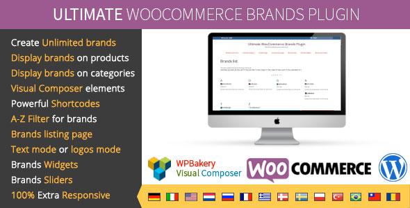 Free Download Ultimate WooCommerce V1.5 Brands Wordpress Plugin