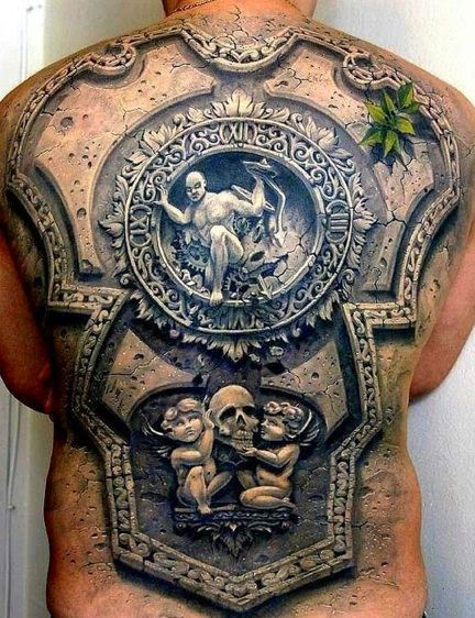 Mind Blowing Back Piece Tattoos