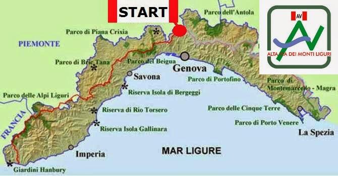 Map Alta Via