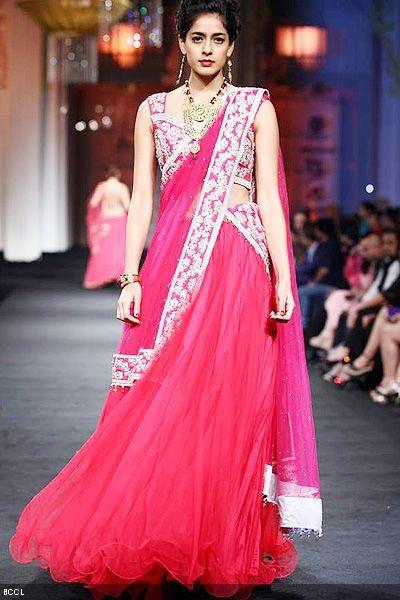 ... Latest designs of langa ooni/lehengas/half sarees from Bhargavi kunam