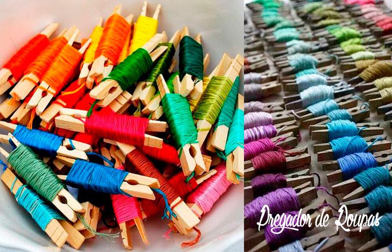 4 ideias 'faça-você-mesma' para organizar a linha de meada: pregadores de roupa