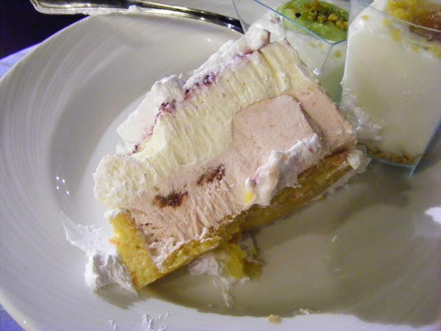 Italian wedding ice cream cake