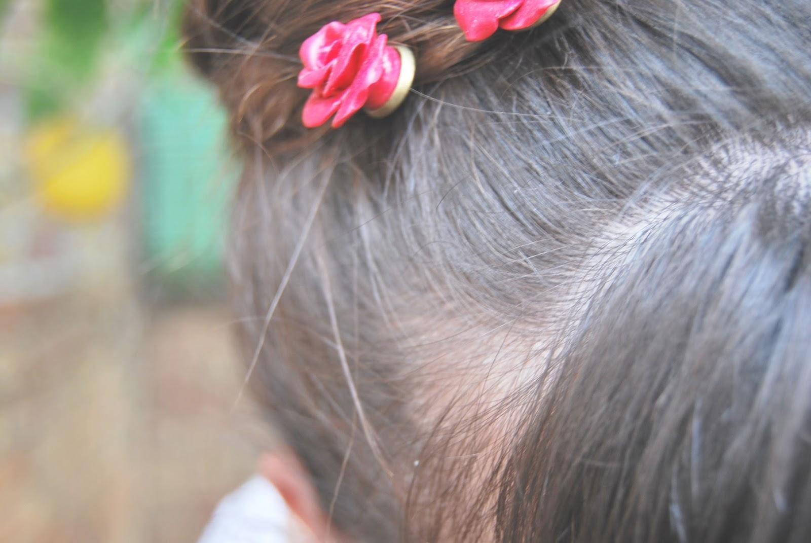 horquillas fimo rosas