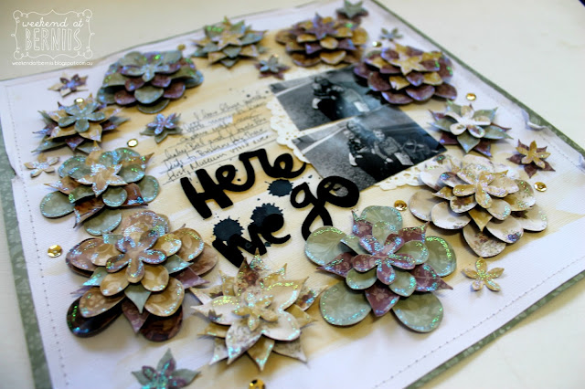 Here We Go layout by Bernii Miller using Couture Creations Hearts Ease collection.