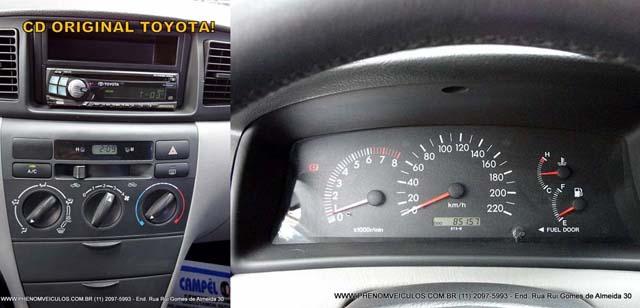 Toyota Corolla XLi Mecânico 2003 usado a venda - interior