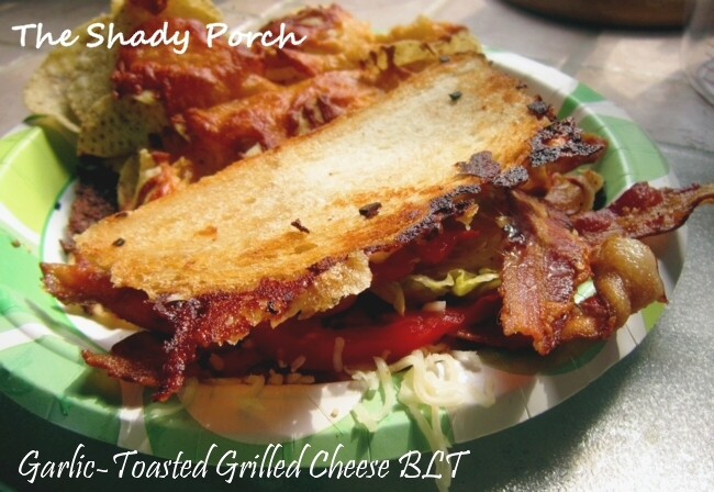 Garlic-Toasted Grilled Cheese BLT #sandwich #easy #cheese #bread