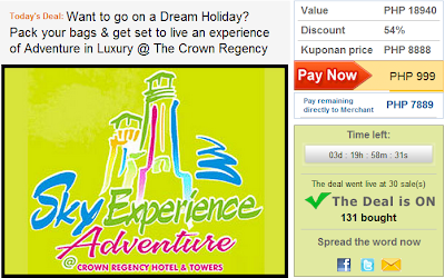 eBay Kuponan Crown Regency Sky Adventure Deal