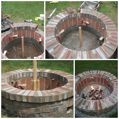 Jemstaa diy brick fire pit in one weekend for Diy brick fire pit