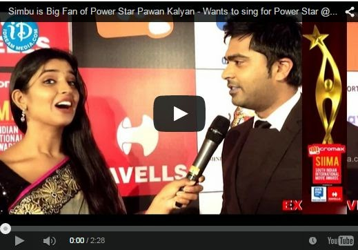 Simbu is Big Fan of Power Star Pawan Kalyan - Wants to sing for Power Star