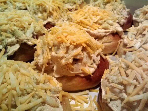Crab Stuffed Pretzel Roll Appetizers