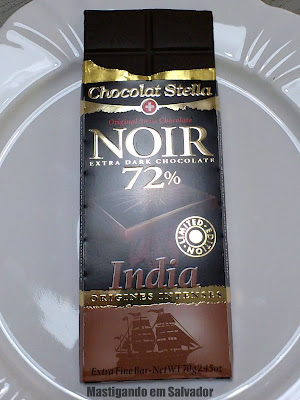 Chocolats Merveille Suisse: O Chocolate Noir 72% India da marca Chocolats Stella