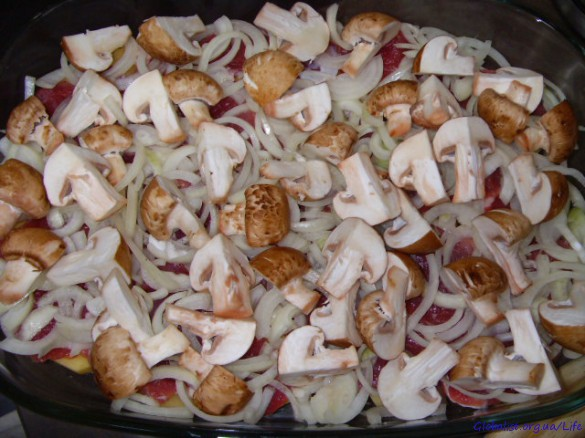 Мясо по-французски с шампиньонами рецепт с фото