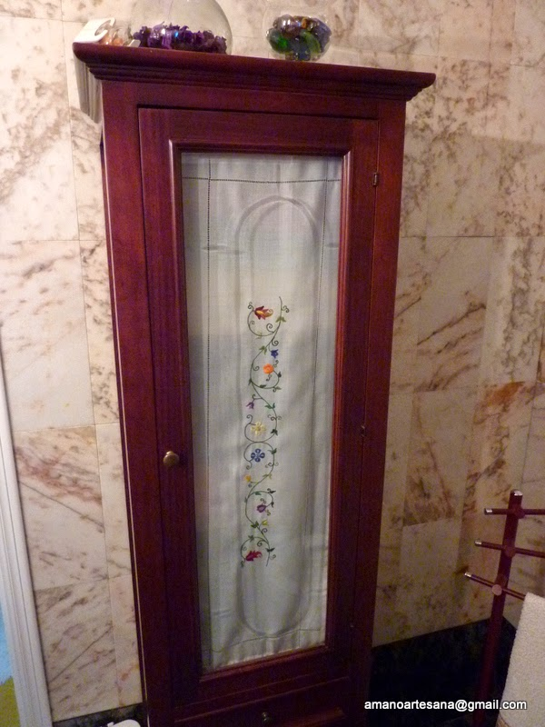 A Mano Arte Sano Cortinas Para Mueble De Bano - Cortinas-para-muebles