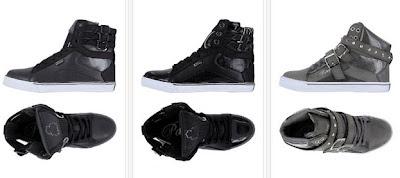Zapatillas de caña alta en gris o negro