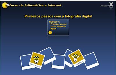 CURSO DE INFORMÁTICA E INTERNET - PRIMEIROS PASSOS COM A FOTOGRAFIA DIGITAL