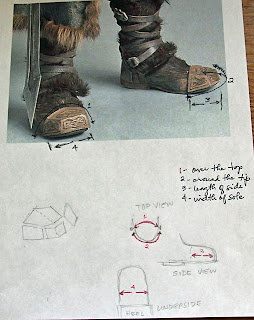 Thorin Oakenshield boot caps measurements