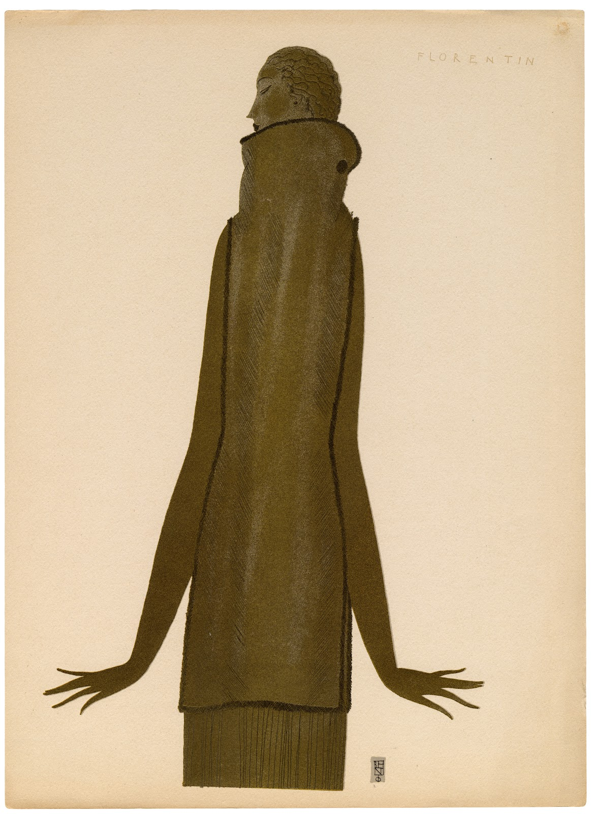 Eduardo Garcia Benito - Dernière lettre persane mise en français et accompagnée de douze dessins exécutés dans le gout persan. París, La Maison Fourrures Max, realizado por Draeger Frères, (1920)