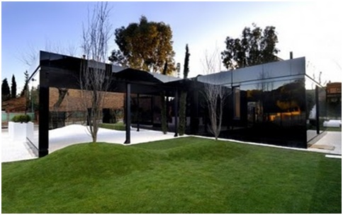 BLACK HOUSE FACADE A-CERO MODULAR HOMES