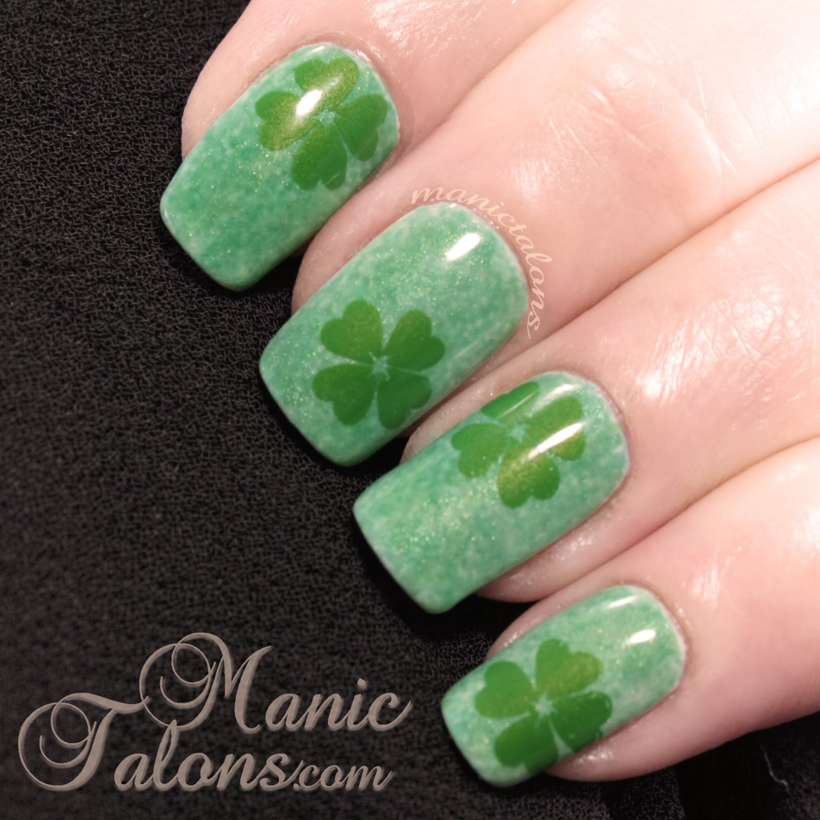 St. Patrick's Day Shamrock Gel Polish Manicure