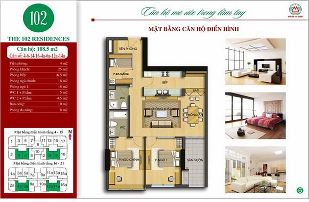 The 102 Residences - nhà tập thể 102 Trường Chinh kinh kỳ DT108m2