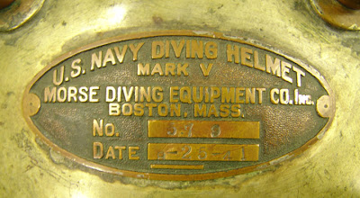 US Navy Diving Helmet Mark V Morse Diving