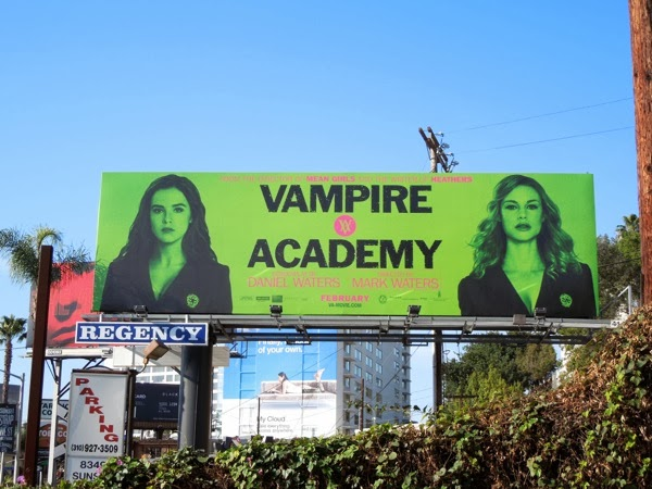 Vampire Academy film billboard