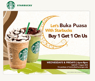 Love Freebies Malaysia: Promotions > Starbucks Buka Puasa Buy 1 Free 1