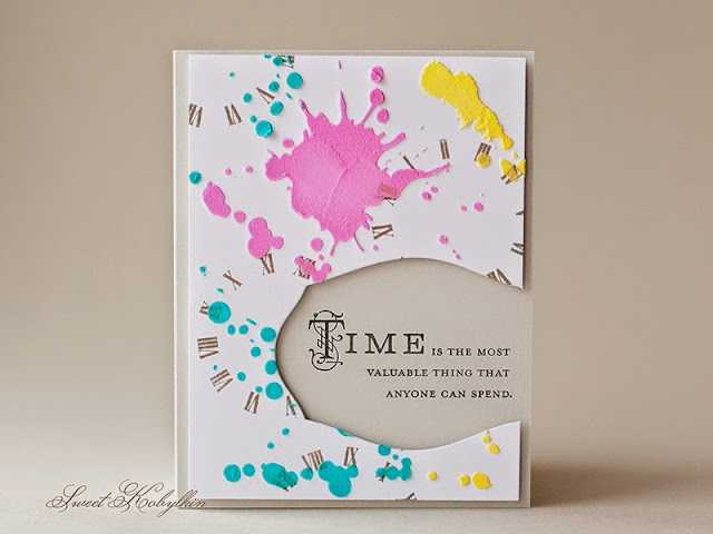 Greeting Card with Hands of Time from Papertrey Ink by Sweet Kobylkin