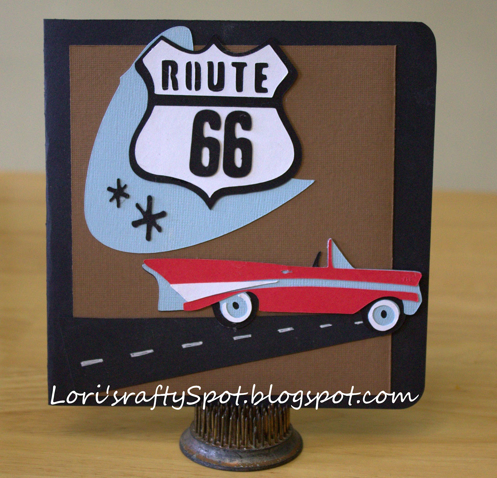 Loris Crafty Spot Route 66 – Manly Birthday Cards