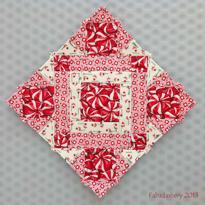 Block 63 - Nearly Insane Quilt Red White