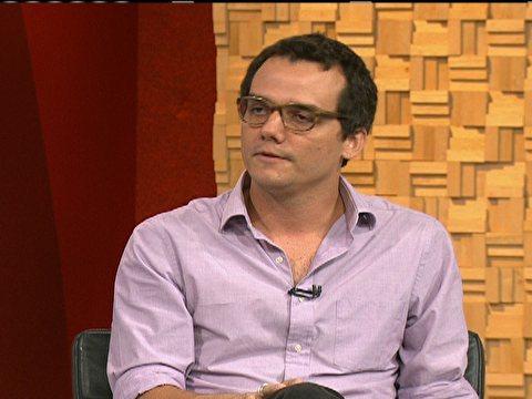 """Wagner Moura durante o programa """"Estúdio I"""", da Globo News (Foto: Reprodução/Globo News)"""